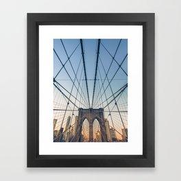 Brooklyn Bridge New York City Framed Art Print