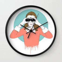 Suzy Moonrise Kingdom  Wall Clock