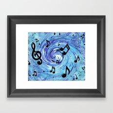 Musical Blue Framed Art Print