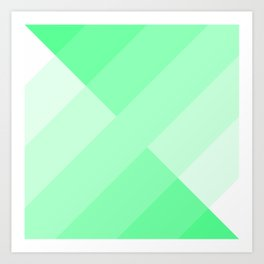 green and white gradient Art Print
