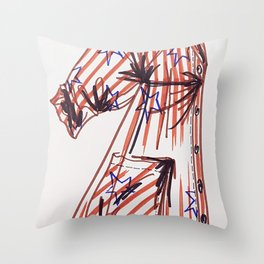 shirtdress Throw Pillow