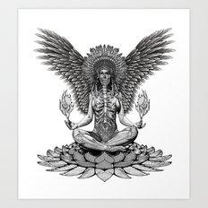 The angel start to pray... Art Print