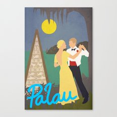 Tribute to Palau and Adolph Treidler Canvas Print