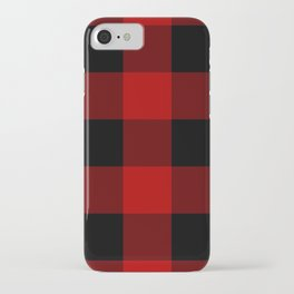 Red Buffalo Check Plaid iPhone Case