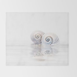 Snail Shells On Water Throw Blanket