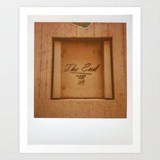 The End Polaroid Art Print