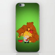 Goldilocks and the Three Bears iPhone Skin