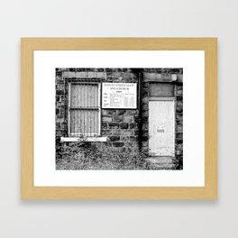 Abandoned: Batley Spiritualist Church Framed Art Print