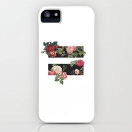 floral equality symbol iPhone Case