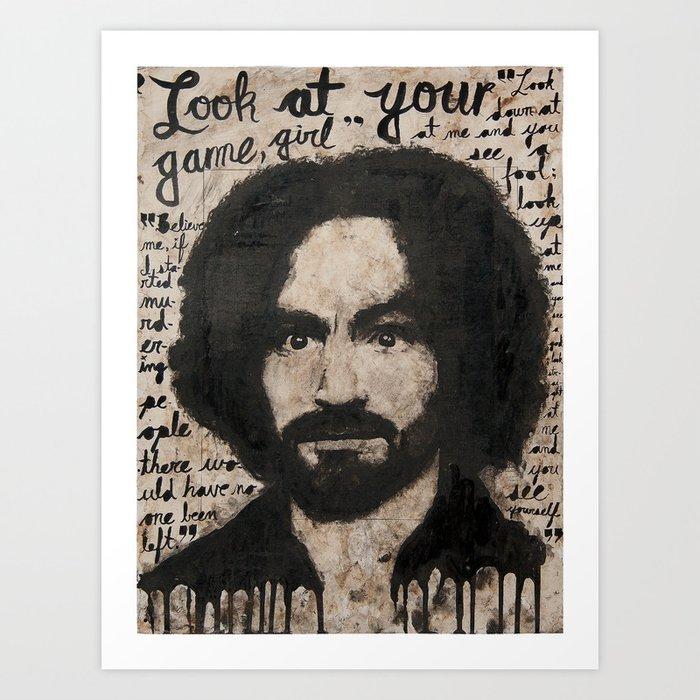 Manson Portrait Art Print