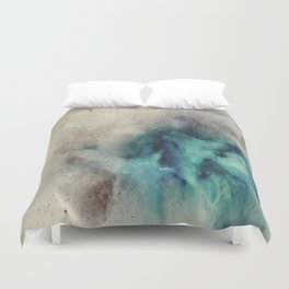 Blue Nebula Smoke Duvet Cover