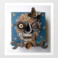 Skull (Flower) Art Print
