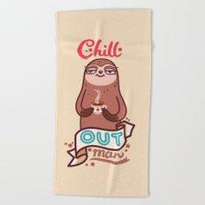 Chill Sloth Beach Towel