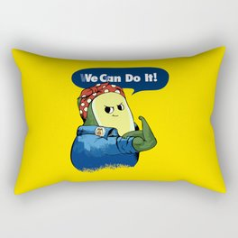 Vegan do It Avocado Rectangular Pillow
