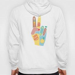 Motivational Peace Fingers Hoody