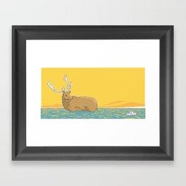 A deer (2) Framed Art Print