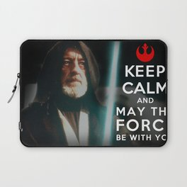 Keep Calm Star Wars - Alec Guinness Laptop Sleeve