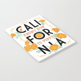 California Knows How To Poppy Notebook