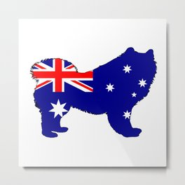Australian Flag - Samoyed Metal Print