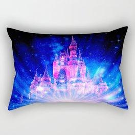 Princess Fairy Tale Enchanted Castle Pink & Blue Rectangular Pillow