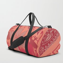 Samoa Watermelon Polynesian Floral Duffle Bag