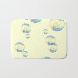 IRIDESCENT SOAP BUBBLES  ON YELLOW COLOR Bath Mat