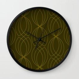 CROSS GREEN GRAPHIC DESIGN Wall Clock