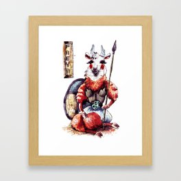 Strong Llama Freya Framed Art Print