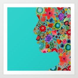 dream on, little flower Art Print