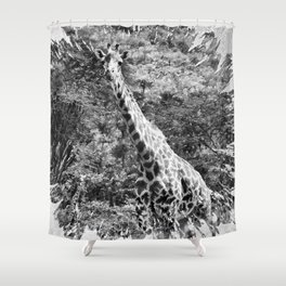 African Giraffe - Through The Woods And Through The Trees Shower Curtain
