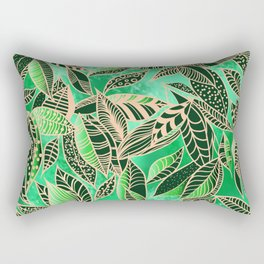 GREEN LEAVES Rectangular Pillow