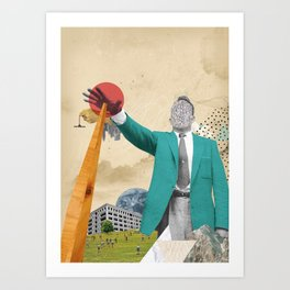 S-OTTO / BELOW Art Print