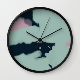 Abstract Colour Study (Unwind) Wall Clock