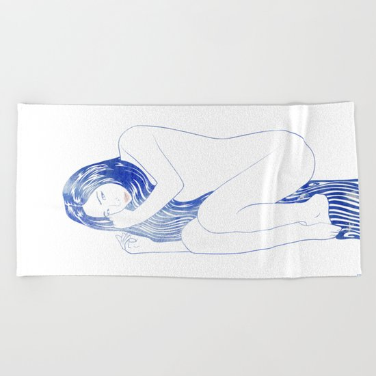 Water Nymph LIX Beach Towel