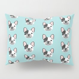 Frenchie black and white french bulldogs french bulldog gifts for dog lovers Pillow Sham