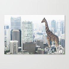 Giraffe in the City Canvas Print
