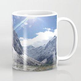 Blue Skies and White Mountain Tops Coffee Mug
