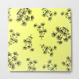 yellow flower eaters Metal Print