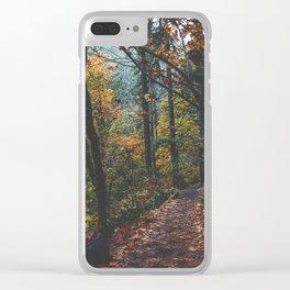 Leaf a Trail Clear iPhone Case
