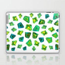 Green beautiful hand drawn gems. Laptop & iPad Skin
