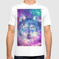 wolf 1 Mens Fitted Tee MEDIUM White