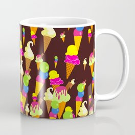 Ice Cream Background Design Coffee Mug