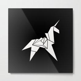 Unicorn Origami Metal Print