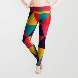 Colorful Triangles (Bright Colors) Leggings