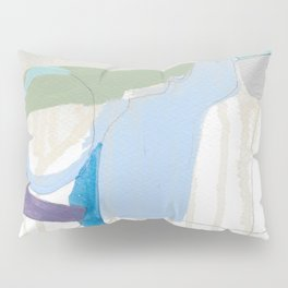 stone by stone 3 - abstract art fresh color turquoise, mint, purple, white, gray Pillow Sham