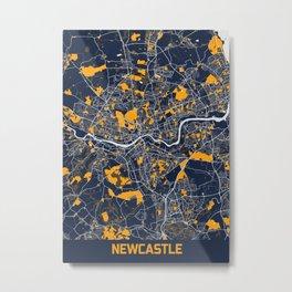 Newcastle - United Kingdom Bluefresh City Map Metal Print