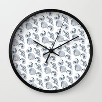 shells Wall Clocks featuring shells by sustici