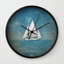 The Paper Ship Wall Clock