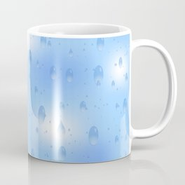 Water dops with sky background Coffee Mug