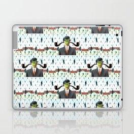 Ear Smoking Apple Guy Standing in the Man Rain Laptop & iPad Skin